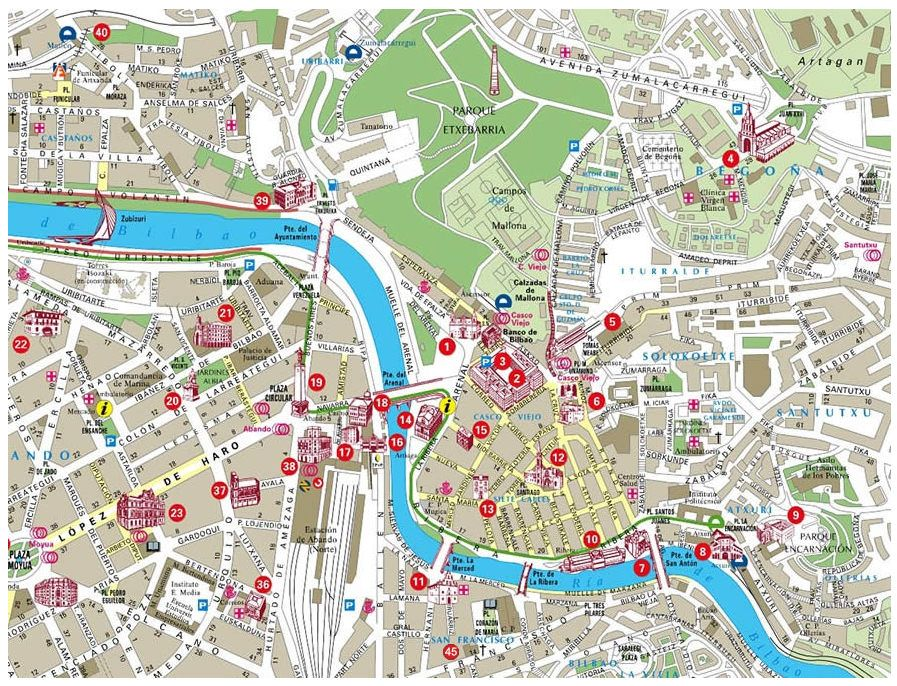 Mapas De Bilbao Y Bizkaia Guia Bilbao Turismo