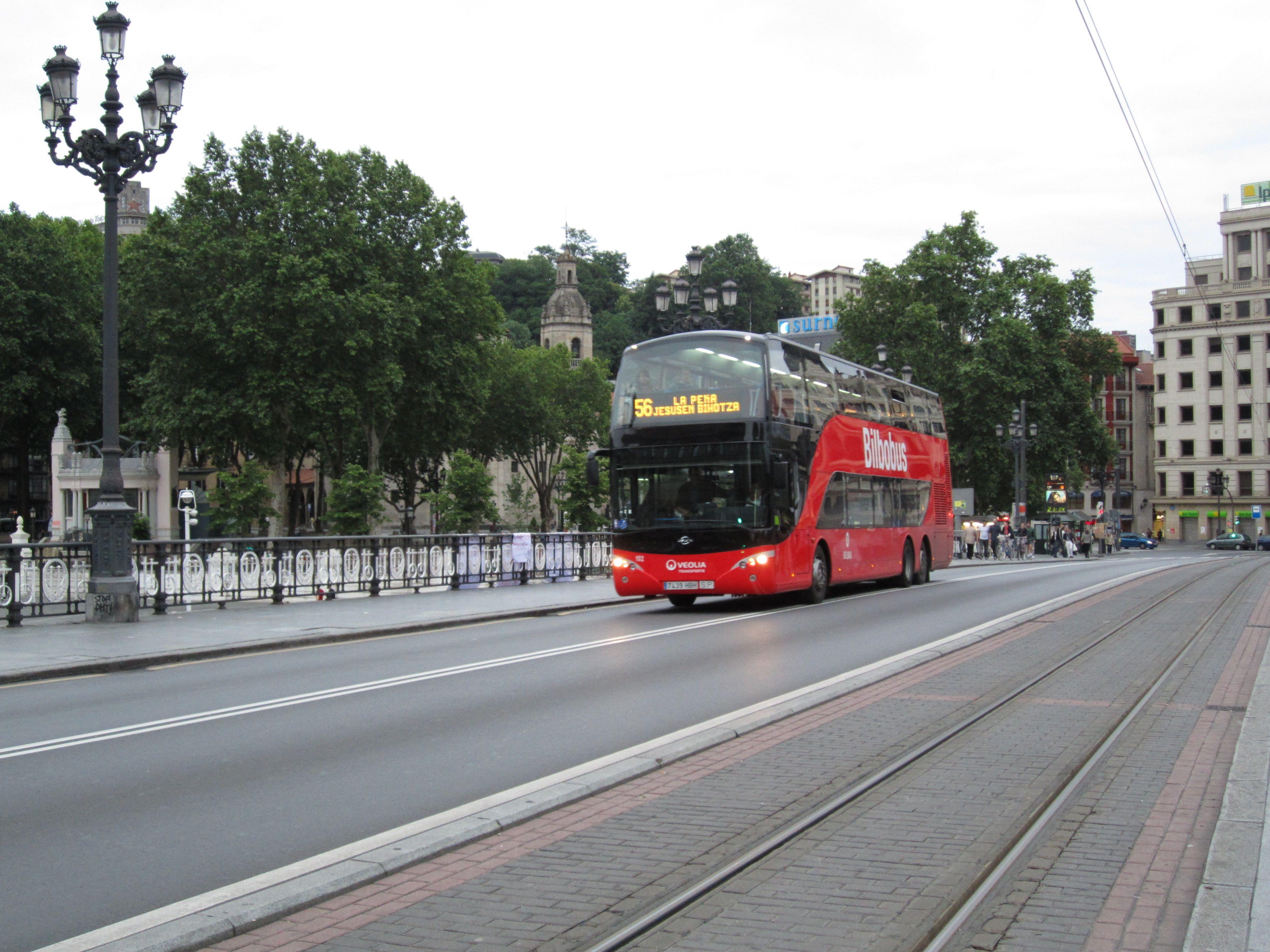 Autobuses de dos pisos en Bilbao