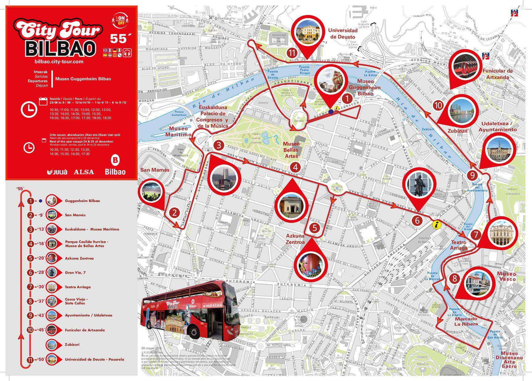 Bus Turistico Bilbao Visita La Ciudad Al Estilo Londinense Guia