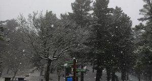 Los Montes de Bilbao y Bizkaia se tiñen de blanco para despedir la Navidad